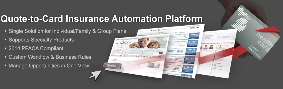quote-to-card insurance automation platform